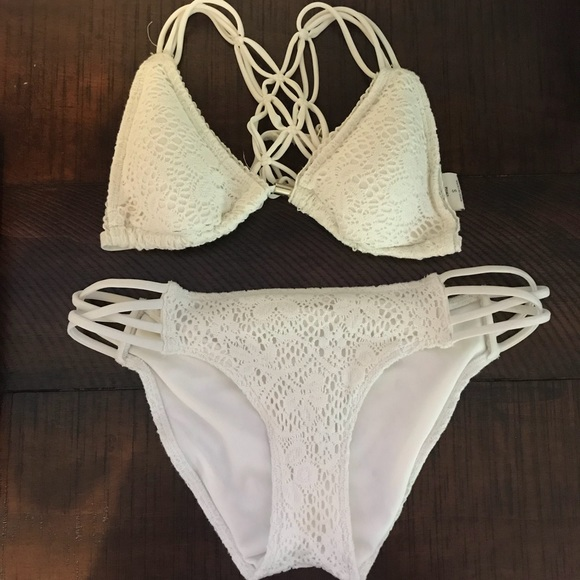 promo code best selection of factory Abercrombie white crochet bathing suit